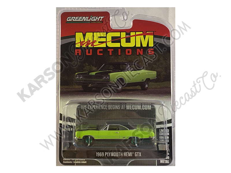 "CHASE 1969 Plymouth Hemi GTX ""Mecum Auctions Collector Cars"" Series 4 Diecast 1:64 Model - Greenlight - 37190C"