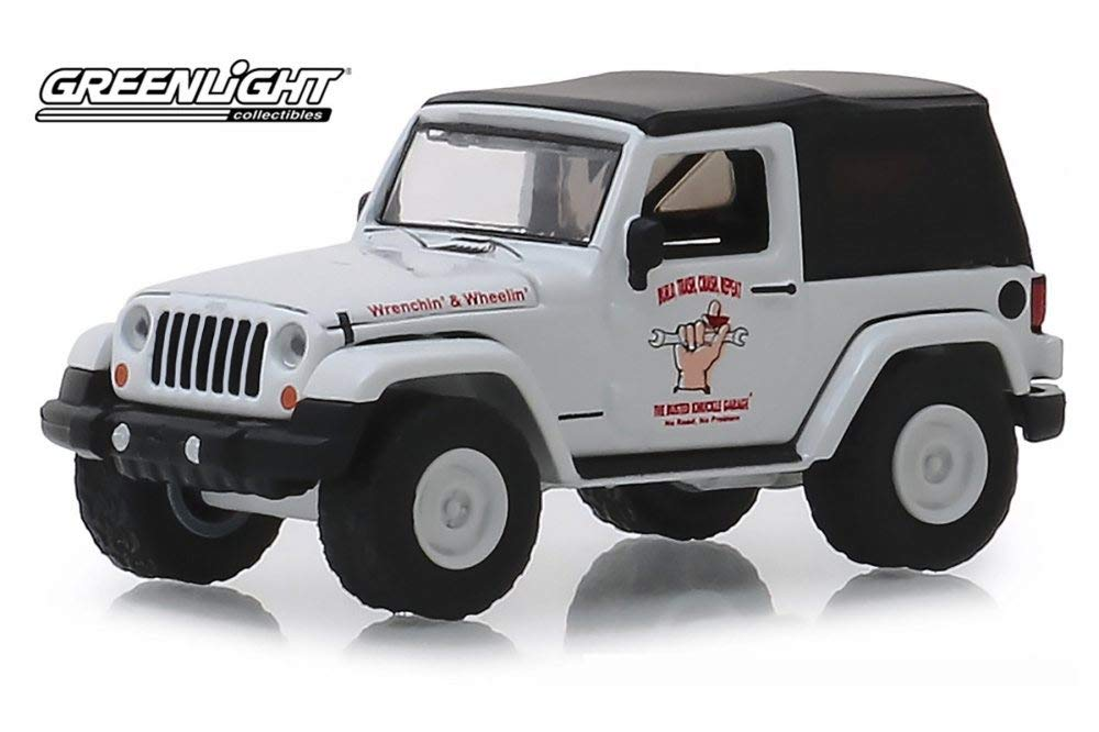 2012 Jeep Wrangler, Busted Knuckles Series 1 1:64 Scale Diecast Model - Greenlight - 39010E