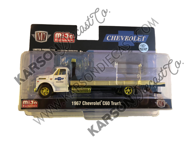 "CHASE 1967 Chevrolet C60 Flatbed Truck 1:24 Diecast Model White ""Chevrolet"" (Detroit, Michigan) Limited Edition to 3,000 pieces Worldwide - M2 Machines 39100-MJS01"