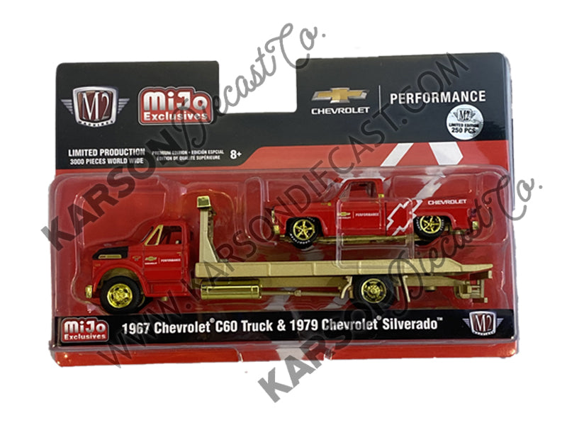 CHASE 1967 Chevrolet C60 & 1979 Chevy Silverado Fleetside 1:64 Diecast Model Limited Edition to 3,000 pieces Worldwide - M2 Machines 39200-MJS01