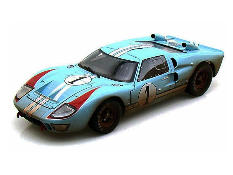 "1966 Ford GT-40 MKII #1 Dirty Version ""Legend Series"" 1:18 Diecast Model Car - Shelby Collectibles - 405BL"