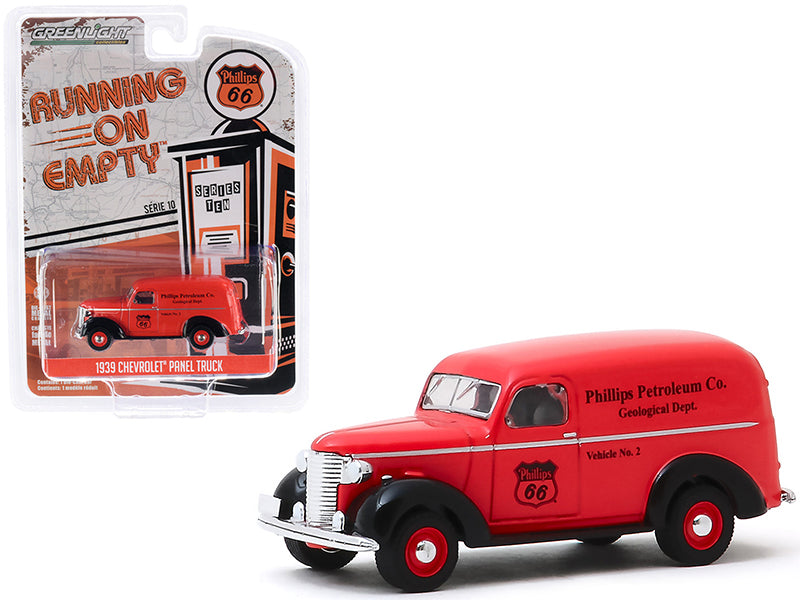 "1939 Chevrolet Panel Truck ""Phillips 66"" ""Phillips Petroleum Co. Geological Dept"" ""Running on Empty"" Series 10 Model 1:64 Diecast - Greenlight - 41100A"