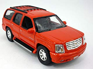 "2002 Cadillac Escalade Red SUV 4.5"" Diecast Model Pull Back - Welly - 42315RD"