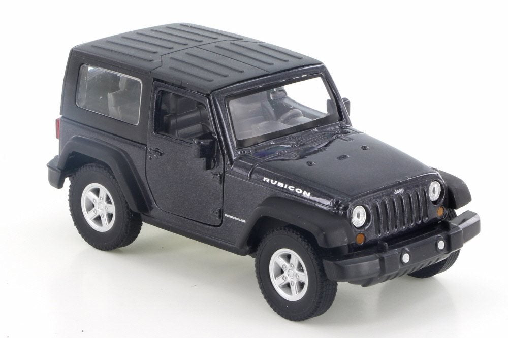Jeep Wrangler Rubicon Black 1:38 Scale Diecast Pullback - Welly - 42371BK