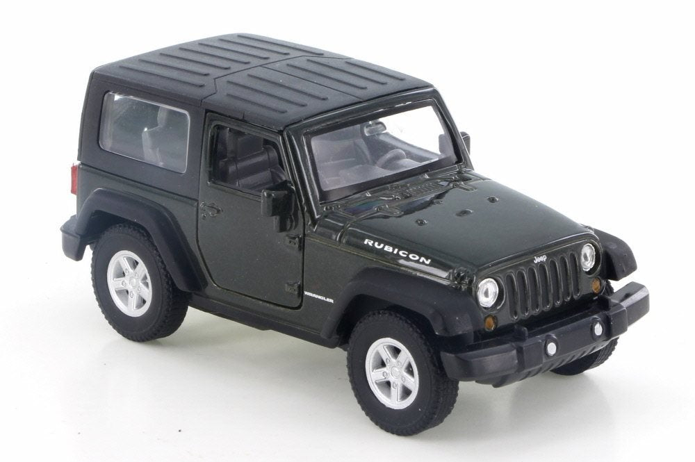 Jeep Wrangler Rubicon Green 1:38 Scale Diecast Pullback - Welly - 42371GRN