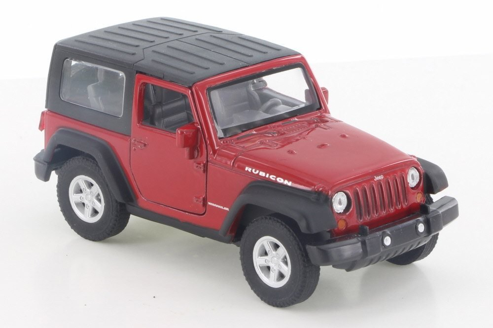 Jeep Wrangler Rubicon Red 1:38 Scale Diecast Pullback - Welly - 42371RD