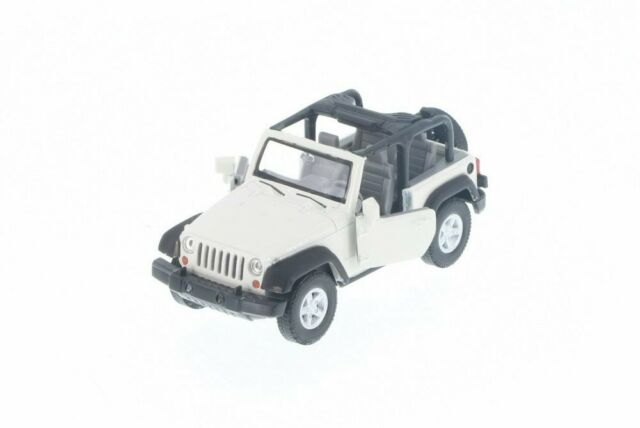 Jeep Wrangler Rubicon White No Top 1:38 Scale Diecast Pullback - Welly - 42371NTWH