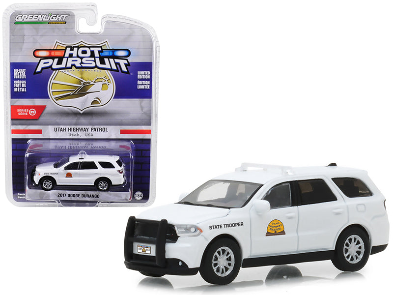 "2017 Dodge Durango Utah Highway Patrol (State Trooper) ""Hot Pursuit"" Series 29 1:64 Diecast Model Car - Greenlight - 42860E"