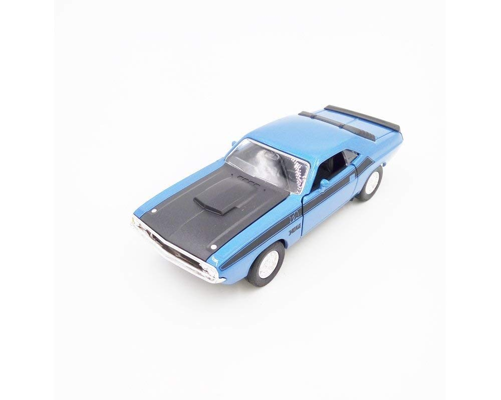 "1970 Dodge Challanger T/A Blue 5"" Diecast Model Pullback - Welly - 43663BL"