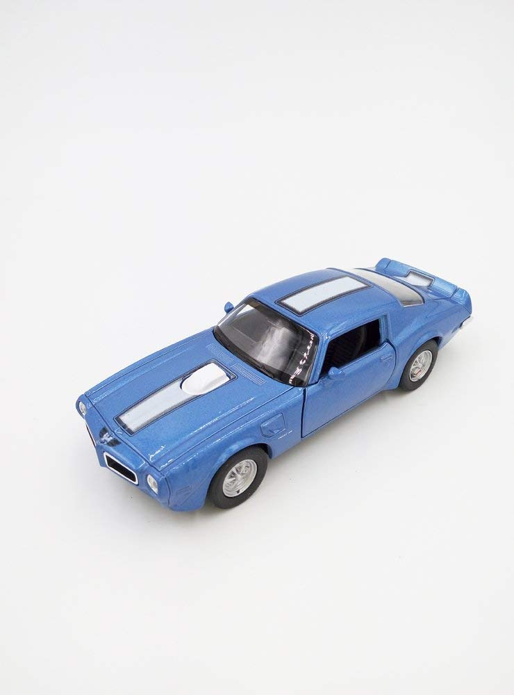 "1972 Pontiac Firebird Trans Am Light Blue 5"" Diecast Model Pullback - Welly - 43735"