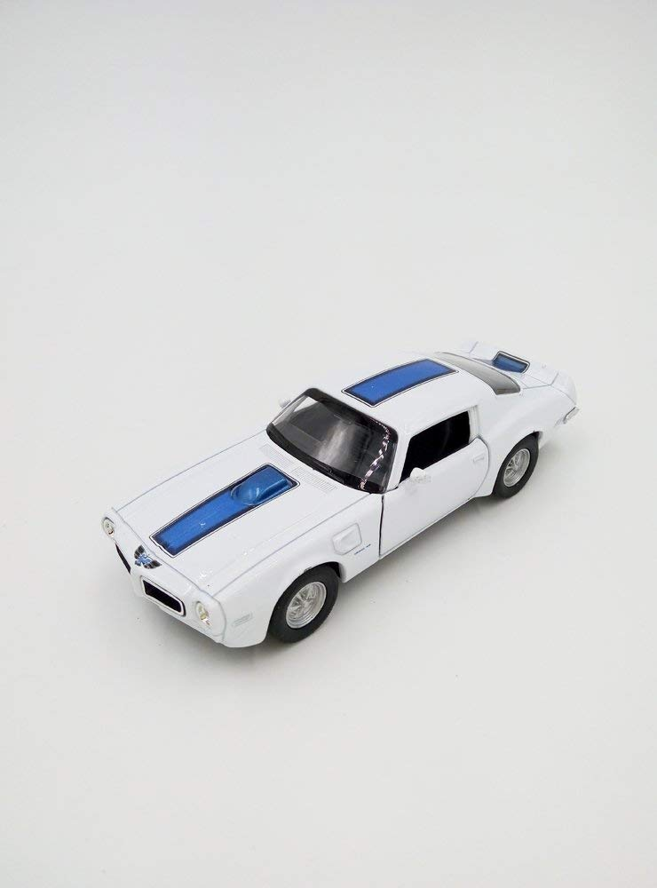 "1972 Pontiac Firebird Trans Am White 5"" Diecast Model Pullback - Welly - 43735"