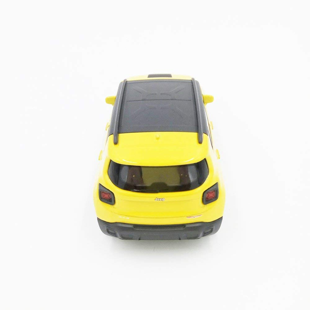 "2017 Jeep Renegade Trailhawk Yellow 5"" Diecast Model - Welly - 43736"