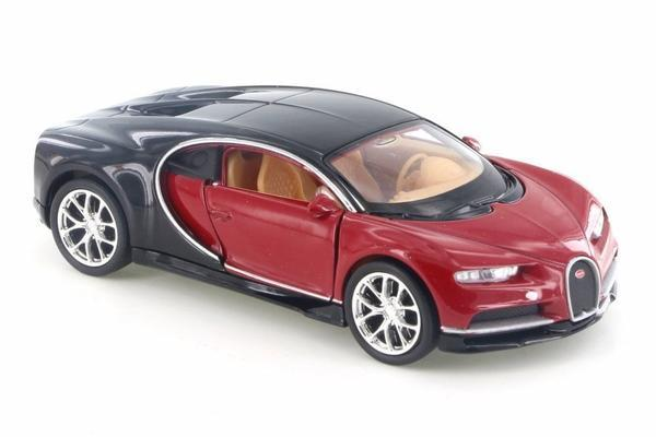 "Bugatti Chiron Red 4.5"" Diecast Model Pullback - Welly - 43738"