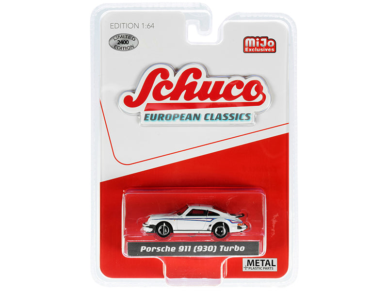 "Porsche 911 (930) Turbo White ""European Classics"" Series Limited Edition to 2400 pieces Worldwide 1:64 Diecast Model - Schuco 4400"