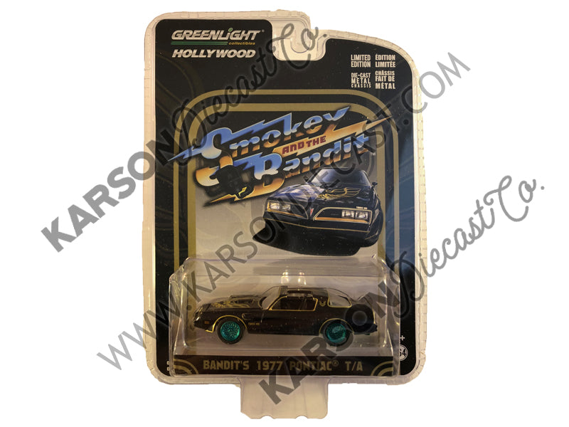 "1977 Pontiac Trans Am ""Smokey and the Bandit"" 1:64 Model - Greenlight - 44710A - CHASE GREEN MACHINE"