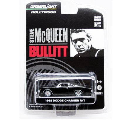 "1968 Dodge Charger R/T Bullitt ""Steve McQueen"" (1968) 1/64 Diecast Model Car - Greenlight - 44741"