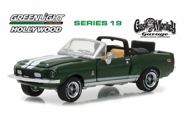 1968 Shelby Mustang GT500KR Convertible Hollywood Series 19 Gas Monkey Garage - Greenlight - 44790D