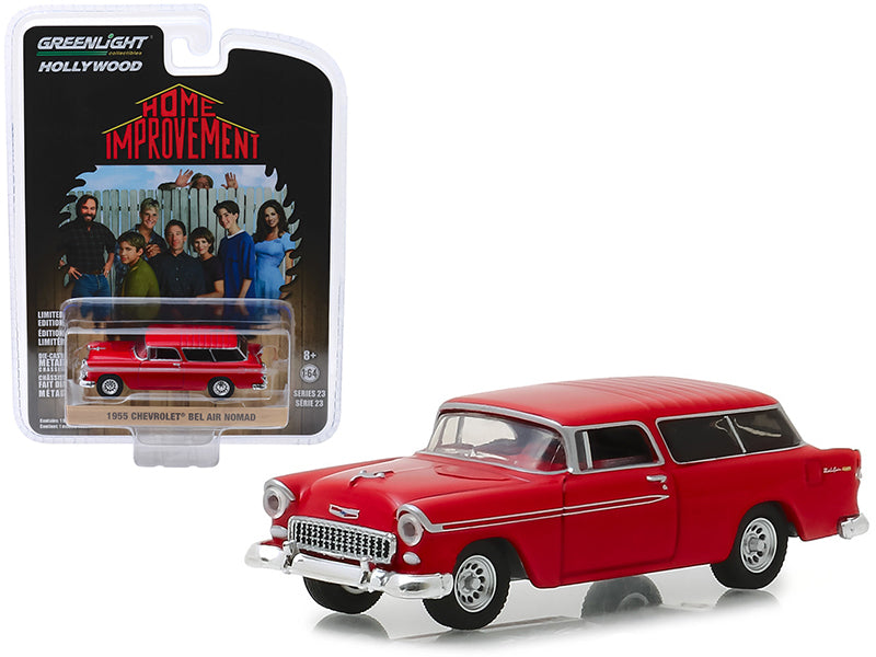 "1955 Chevrolet Bel Air Nomad Red ""Home Improvement"" (1991-1999) TV Series ""Hollywood Series"" Release 23 1:64 Diecast Model Car - Greenlight - 44830E"