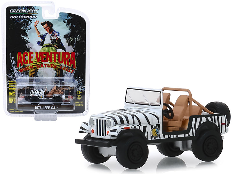 "1976 Jeep CJ-7 ""Ace Ventura: When Nature Calls"" (1995) Movie ""Hollywood Series"" Release 25 1/64 Diecast Model Car - Greenlight - 44850A"