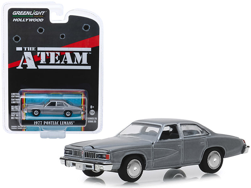 "1977 Pontiac LeMans Gray ""The A-Team"" (1983-1987) TV Series ""Hollywood Series"" Release 25 1/64 Diecast Model Car - Greenlight - 44850C"