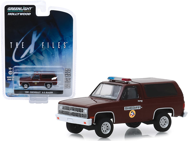 "1981 Chevrolet K-5 Blazer ""Sheriff"" ""The X-Files"" (1993-2002) TV Series ""Hollywood Series"" Release 25 1/64 Diecast Model Car - Greenlight - 44850D"