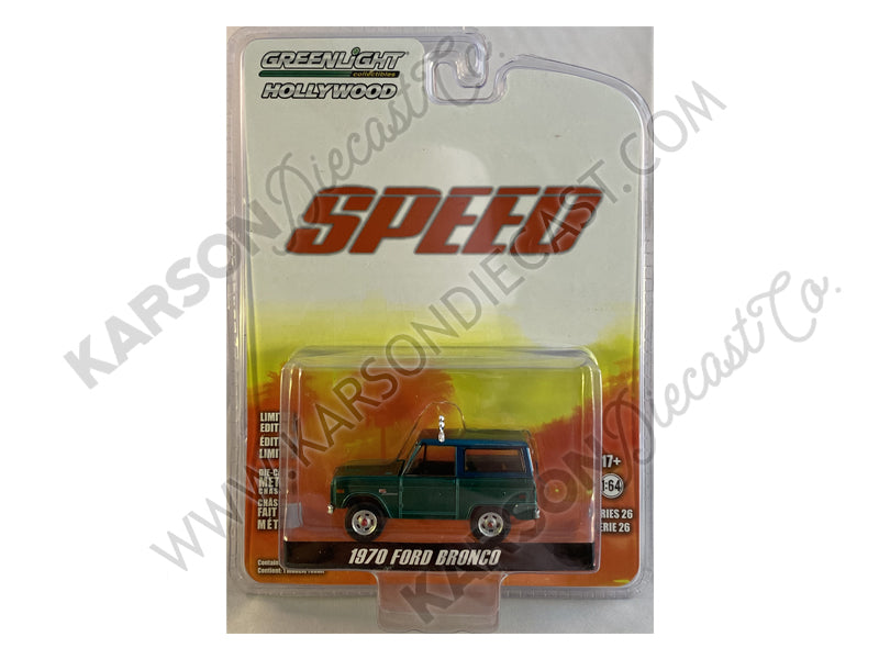 "CHASE 1970 Ford Bronco Gray (Jack Traven's) ""Speed"" (1994) Movie ""Hollywood Series"" Release 26 Diecast 1:64 Model - Greenlight - 44860E"
