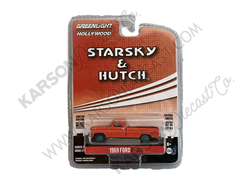 "CHASE 1969 Ford F-100 Pickup Truck Red ""Starsky and Hutch"" (1975-1979) TV Series ""Hollywood Series"" Release 27 Model 1:64 Diecast - Greenlight - 44870B"