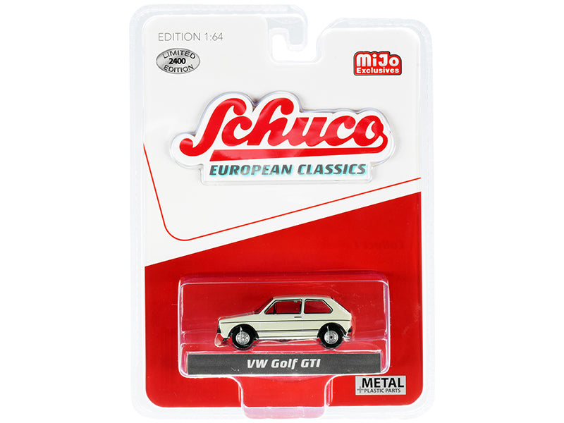 "Volkswagen Golf GTI Cream ""European Classics"" Series Limited Edition to 2400 Worldwide 1:64 Diecast Model - Schuco 4600"