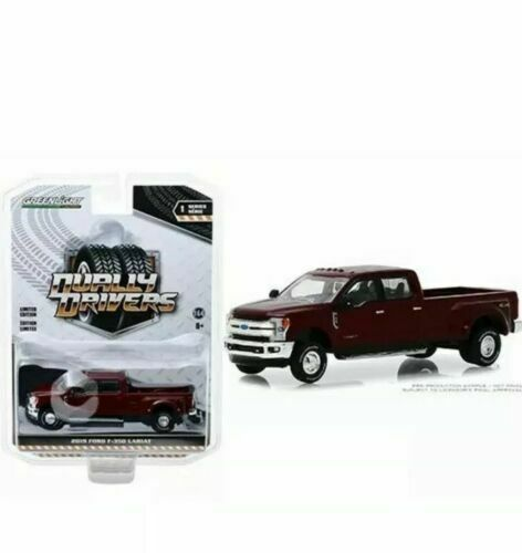 "2018 Ford F350 Lariat King Ranch Ruby Red ""Dually Drivers Series 1"" 1:64 Scale Diecast - Greenlight - 46010D"
