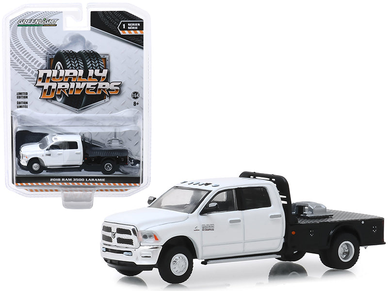 "2018 Ram 3500 Flatbed ""Dually Drivers Series 1"" 1:64 Scale Diecast - Greenlight - 46010F"