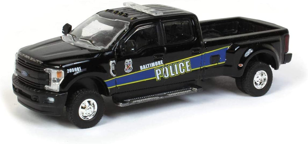 "2019 Ford F-350 Lariat Super Duty Dually Pickup Truck Baltimore Police ""Dually Drivers"" Series 5 Diecast 1:64 Model Car - Greenlight - 46050F"