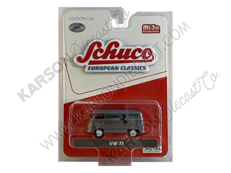 "CHASE Volkswagen T1 Panel Bus ""Ferrari Automobiles"" Red and Cream ""European Classics"" Series Limited Edition to 3600 Worldwide 1:64 Diecast Model - Schuco 4700"