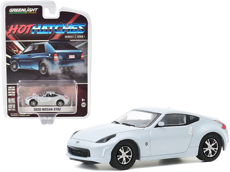 "2020 Nissan 370Z Brilliant Silver Metallic ""Hot Hatches"" Series 1 Model 1:64 Diecast Car - Greenlight - 47080F"