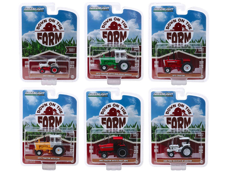 """Down on the Farm"" Series 3, Set of 6 pieces 1/64 Diecast Models - Greenlight - 48030"