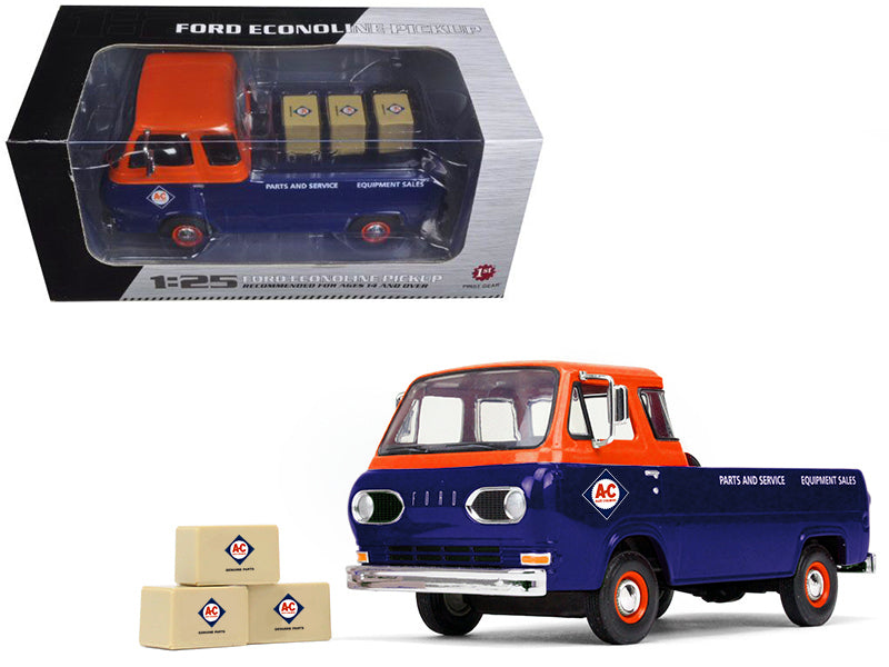 1960's Ford Econoline Pickup with Boxes Allis-Chalmers Parts & Service 1/25 Diecast Model Car - First Gear - 40-0401
