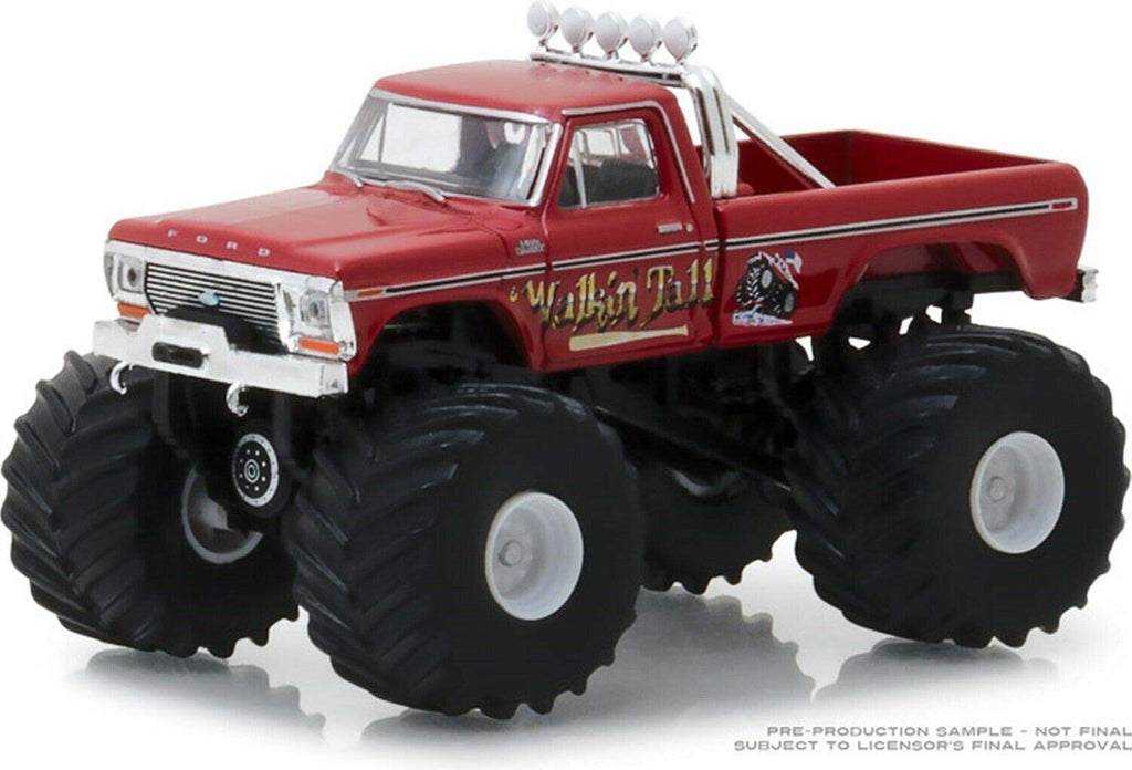 1979 Ford F-250 Walkin' Tall Red 1:64 Diecast Monster Truck Kings of Crunch Series 2- Greenlight - 49020E