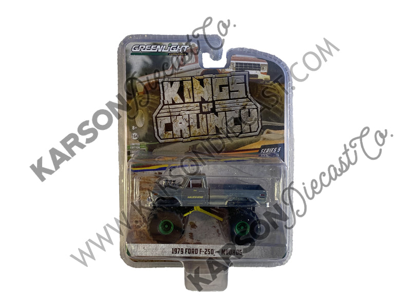 "CHASE 1979 Ford F-250 Mudhog ""Kings of Crunch"" Series 5 Diecast 1:64 Model Car - Greenlight - 49050C"