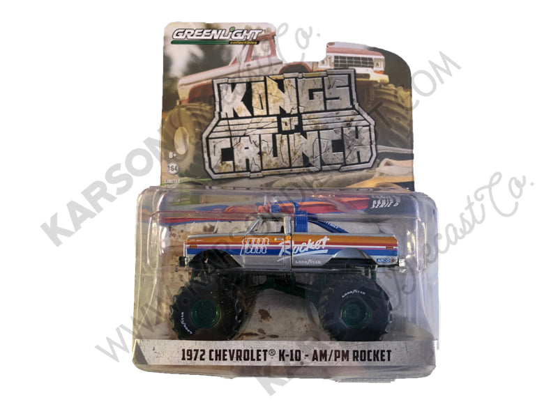 "CHASE 1972 Chevrolet K10 ""AM/PM Rocket"" ""Kings of Crunch"" Series 6 Monster Trucks 1:64 Diecast Models - Greenlight - 49060A"
