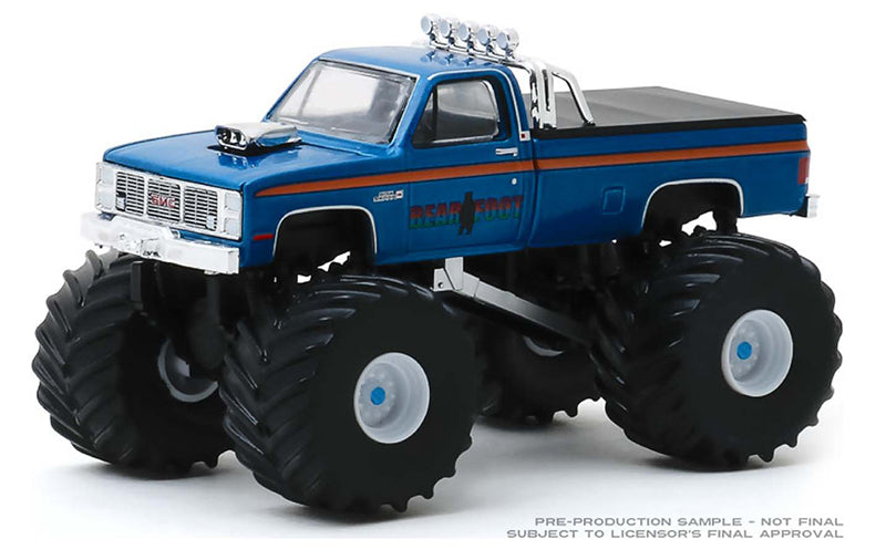 "1985 GMC High Sierra 2500 ""Bear Foot"" ""Kings of Crunch"" Series 6 Monster Trucks 1:64 Diecast Models - Greenlight - 49060C"