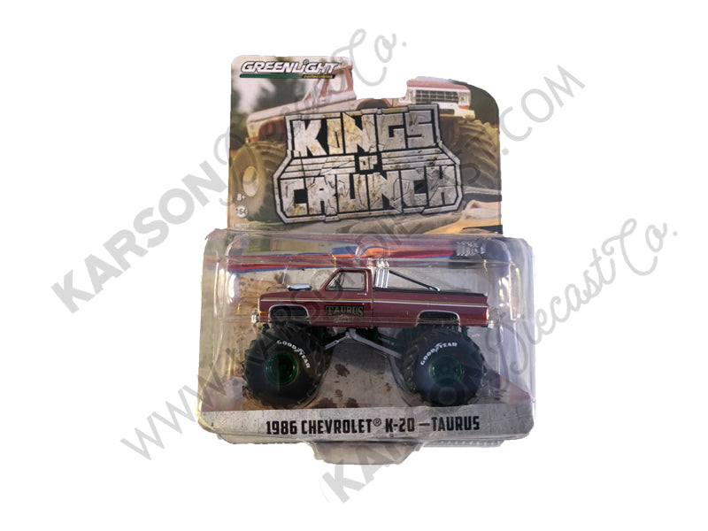 "CHASE 1986 Chevrolet K20 ""Taurus"" ""Kings of Crunch"" Series 6 Monster Trucks 1:64 Diecast Models - Greenlight - 49060D"