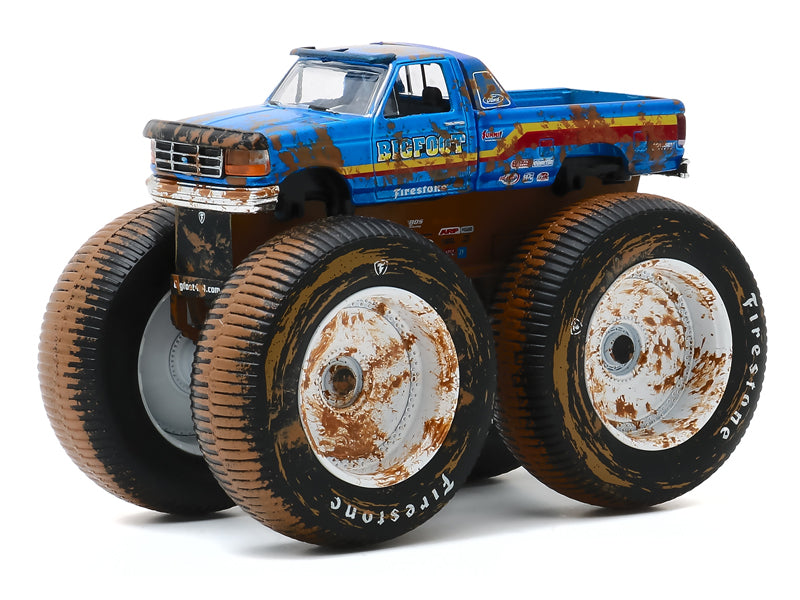 "1996 Ford F-250 Monster Truck ""Bigfoot #7"" Blue ""Kings of Crunch"" Series 7 Diecast 1:64 Model - Greenlight - 49070F"