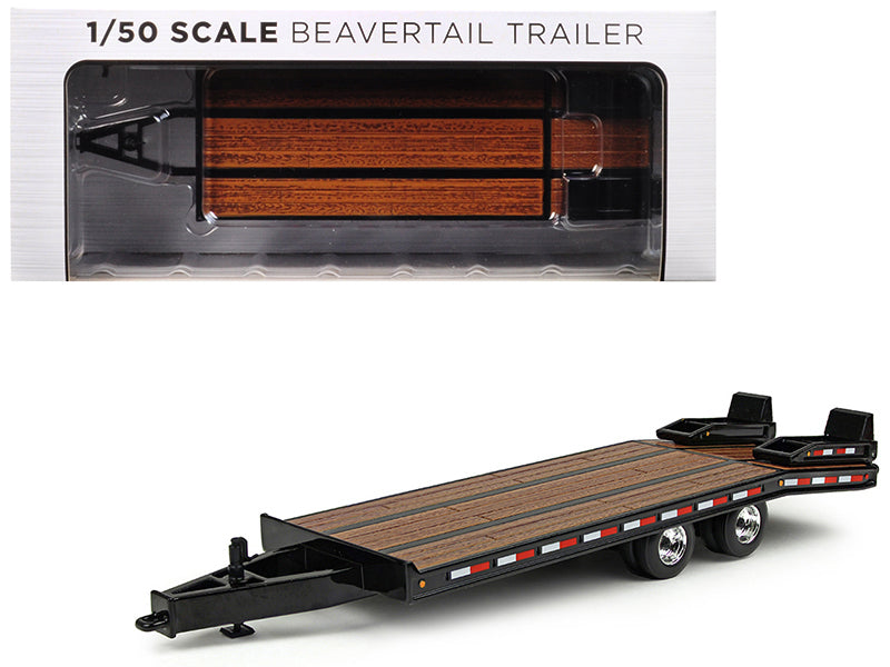 Beavertail Trailer Black 1:50 Diecast Model - First Gear - 50-3228