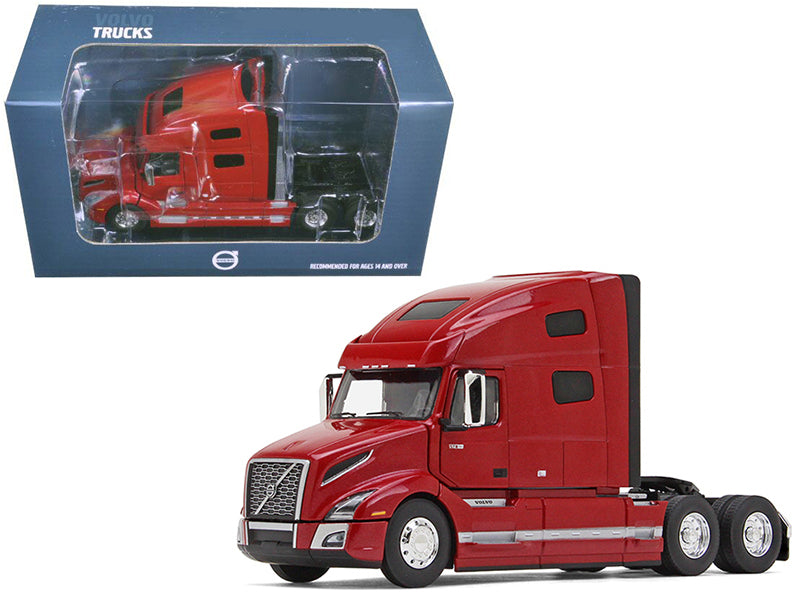Volvo VNL 760 Sleeper Cab Cherry Bomb Red Metallic 1/50 Diecast Model - First Gear - 50-3371