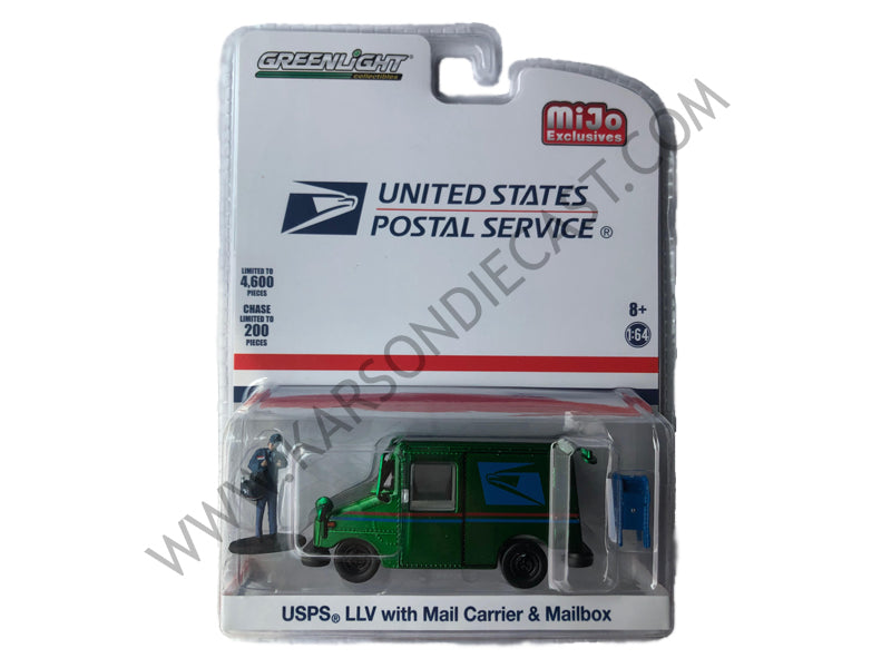 USPS (United States Postal Service) LLV Postal Mail Delivery Vehicle w/  Mail Carrier & Mailbox Accessories Limited Edition to 4,600 pieces  Worldwide