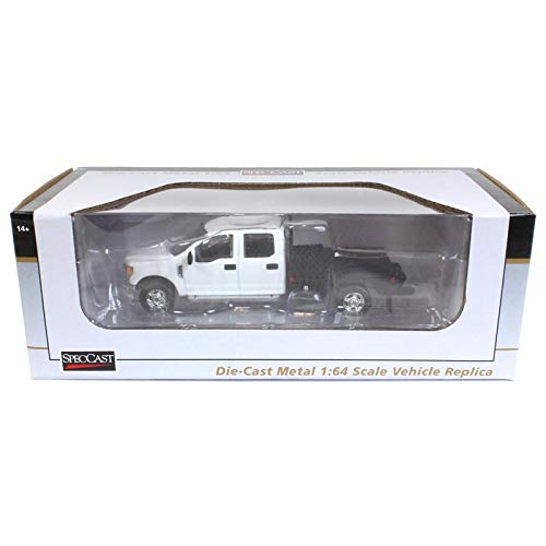 Ford F-250 Flatbed White 1:64 Scale Diecast Model - Speccast - 52602