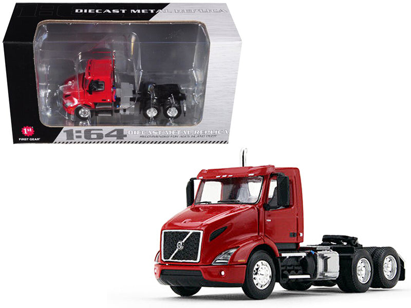 Volvo VNR 300 Day Cab Sun Red 1/64 Diecast Model - First Gear - 60-0371