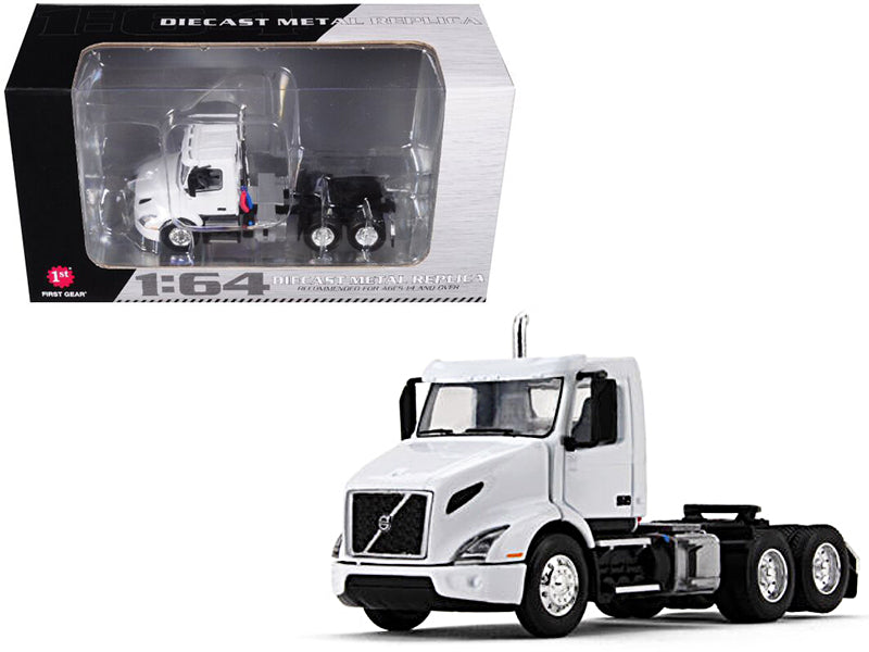 Volvo VNR 300 Day Cab White 1/64 Diecast Model - First Gear - 60-0372