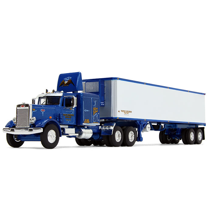 Peterbilt Model 351 Sleeper Cab w/ 40' Vintage Trailer 1/64 Scale Diecast Model - First Gear - 60-0439