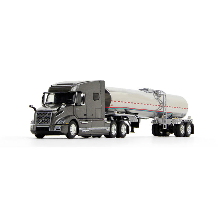 Volvo VNL 740 Mid-Roof Sleeper w/ Brenner Food-Grade Tank Trailer 1/64 Scale Diecast Model - First Gear - 60-0642