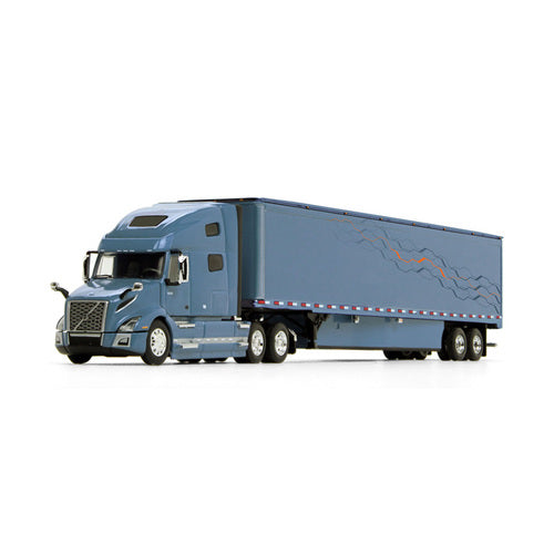 Volvo VNL 760 High-Roof Sleeper w/ 53' Trailer & Skirts 1/64 Scale DIecast Model - First Gear - 60-0645